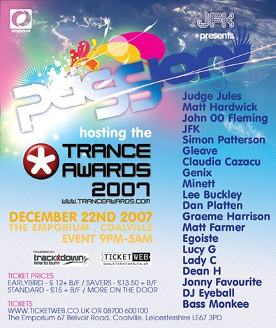 Trance Awards 2007 - Poster