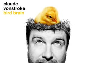 Bird Brain by Claude VonStroke cover album with his face