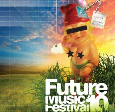 FUTURE MUSIC FESTIVAL - flyer blue, yellow, green, blond