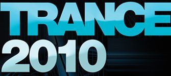 Trance 100 2010 - main logo, blue word trance and 2010 year