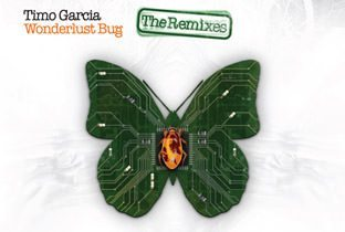 Wonderlust Bug The Remixes - cover album, with a green butterfly