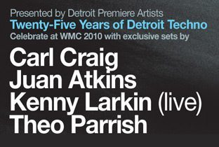 Detroit Techno in Shore Club - flyer with line-up
