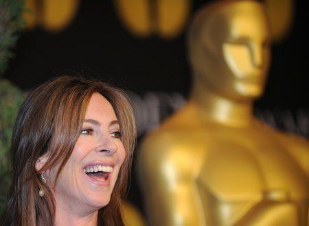 Katheryn Bigelow - with Oscar statue