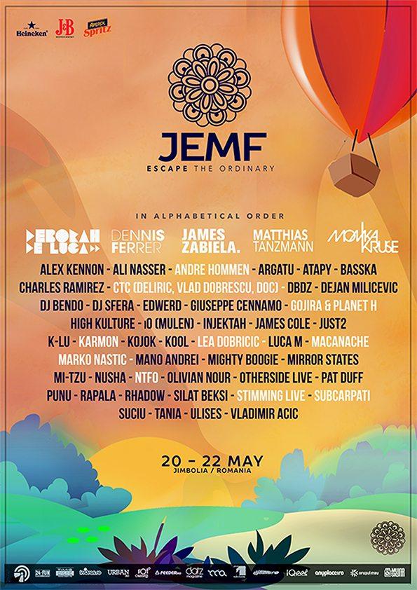 Afis JEMF 2016 - Jimbolia Electronic Music Festival